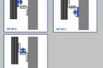 Verschillende uitvoeringsmogelijkheden CDM-ELEVATOR-FIX