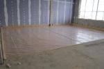 Haagsch - vloer is met PE-folie stort klaar opgeleverd